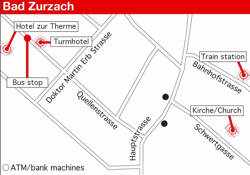 Map of Bad Zurzach
