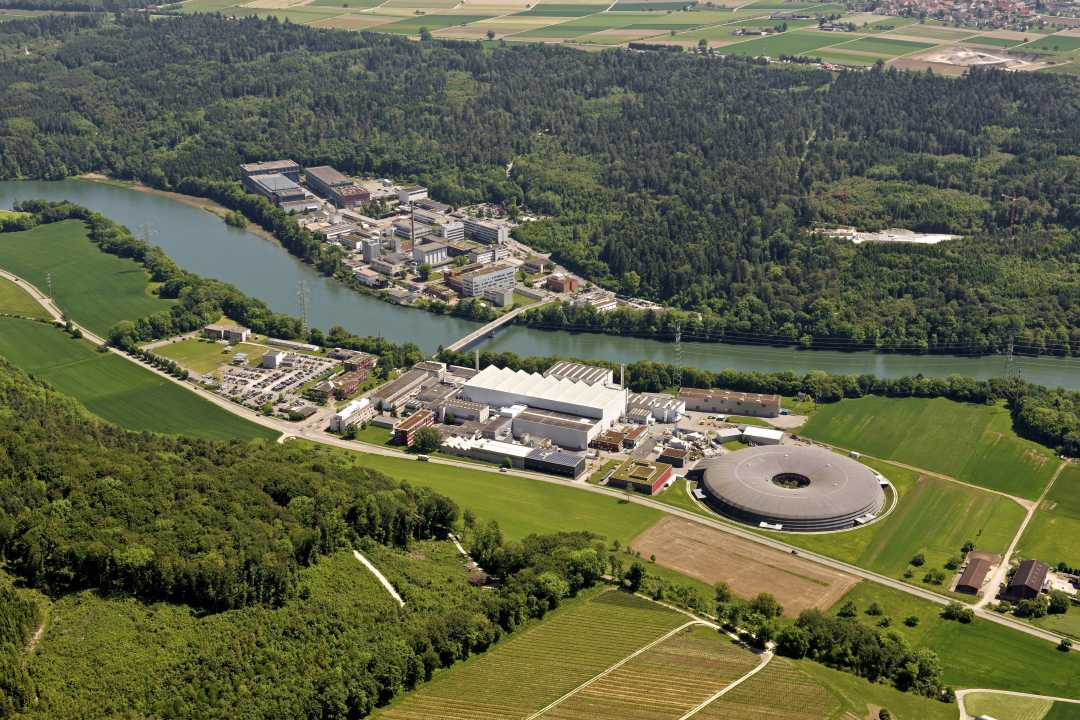 Aerial view of Paul Scherrer Institut